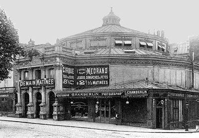 The Medrano circus building in Paris 1879, demolished in November 1972.